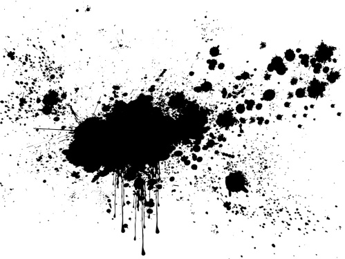 Vector - Blobs of black ink on white